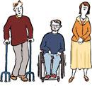 Behinderte und nicht behinderte Menschen gemeinsam