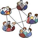 Verschiedene Menschen-Gruppen sind miteinander verbunden.